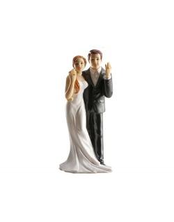 Figura pareja boda anillos