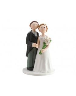 Figura Clay novia con ramo