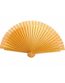 Abanico Madera oro de 19 cm