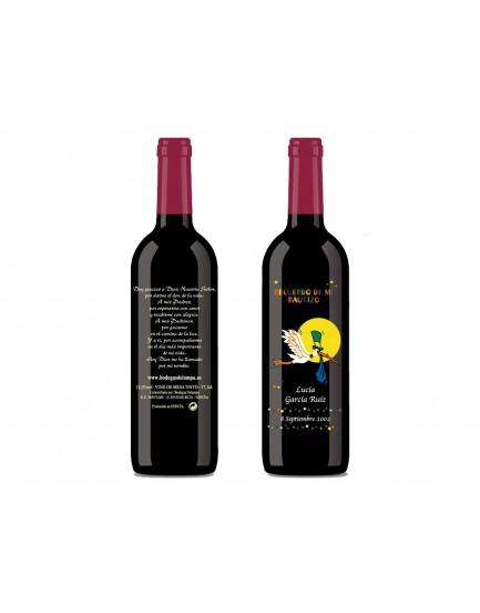 Botella vino personalizada