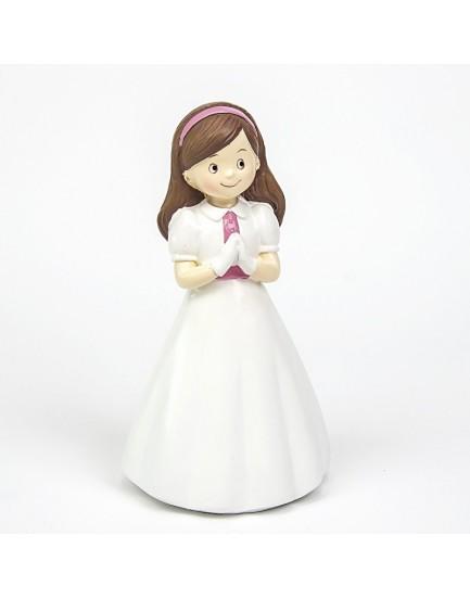 Figura niña diadema rosa