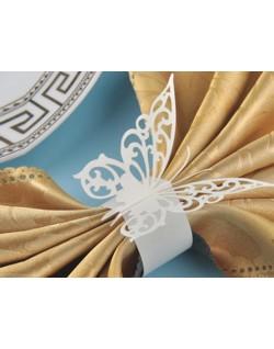 Sujeta servilletas mariposa (12 uds)