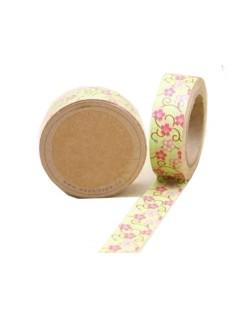 Washi tape flores