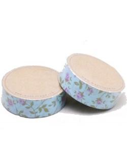 Washi tape azul floral