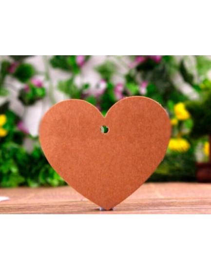 Lote 50 tarjetas corazón