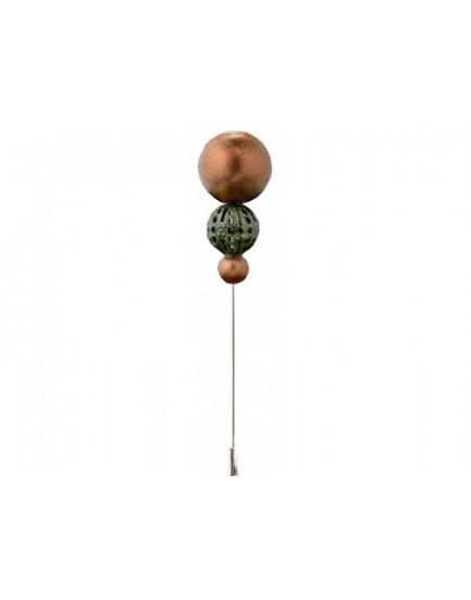 Alfiler doble bola cobre