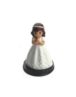 Figura niña vestido flores