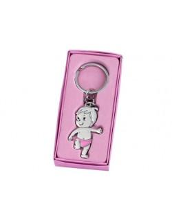 Llavero niña pañal rosa