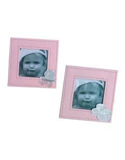 Portafotos polipiel rosa