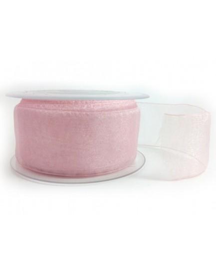 Lazo ancho rosa bebé