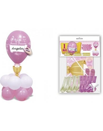 Kit globos comunión rosa