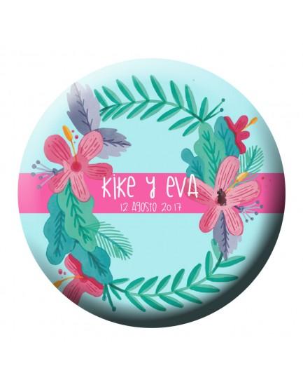 E38. Espejo flor tropical