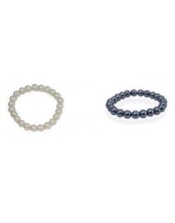 Pulsera Perlas gris o blanca + bolsa organza