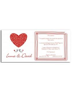 16. Invitación Corazón rojo