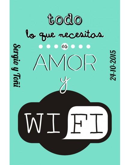 Imán Todo lo que necesitas es amor y wifi