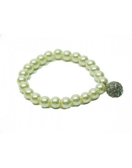 Pulsera de Perlas con Borlón
