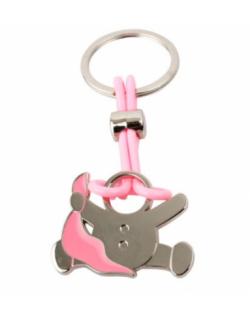 Llavero bebé gasa rosa