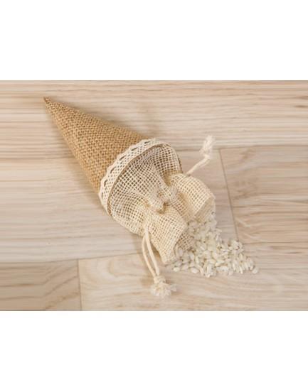 Cono de yute para arroz
