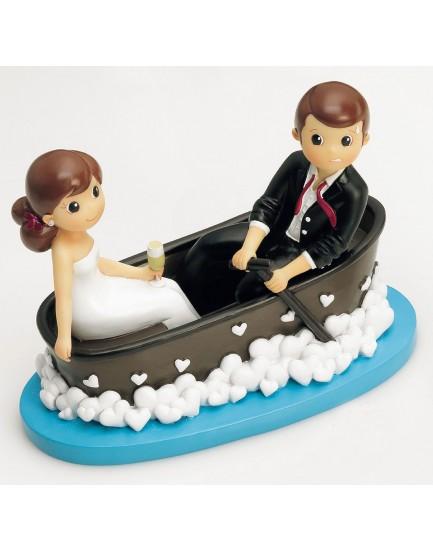 Figura pareja de novios barca