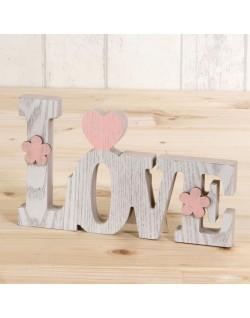Love en madera para decorar