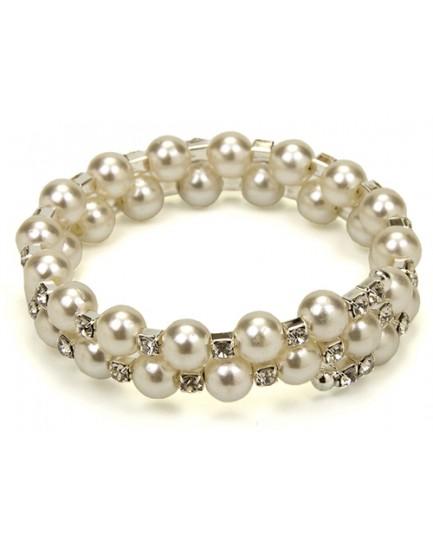 Pulsera perlas y cristales