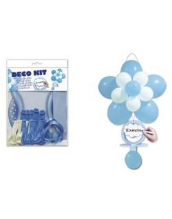Kit globos bautizo azul
