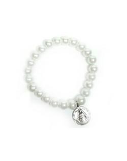 Pulsera perlas Virgen del Rocío