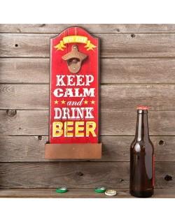 """Abridor de botellas de pared """"Keep Calm"""""""