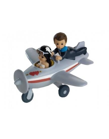 Figura Novios en Avión.