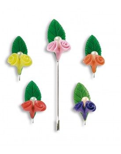 Alfiler flores
