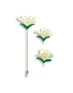 Alfiler Flores Blancas