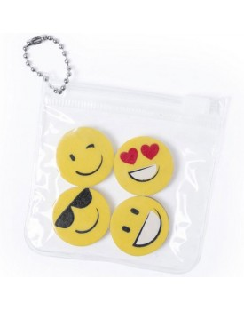 Set 4 Gomas emoticonos