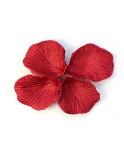 Pétalos artificiales rojos