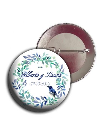 C39. Chapa floral con pajarito