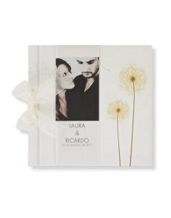 Libro de Firmas Flores con Foto