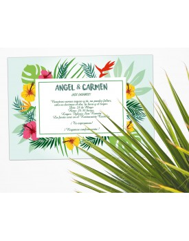 33. Invitación floral tropical