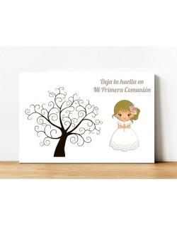 Árbol niña margaritas rubia