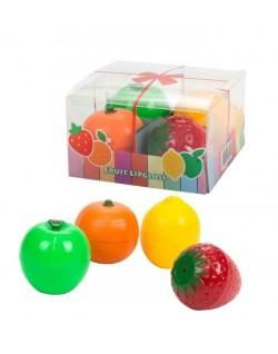 Caja con 4 brillos frutas
