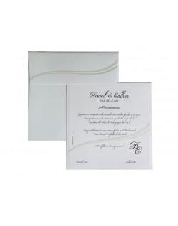 Invitación onda crema