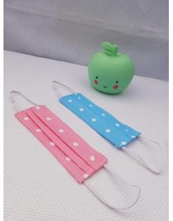 Mascarillas niño - Lunares fondo azul y fondo rosa